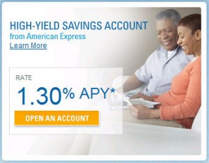 American Express saving account high yield rate
