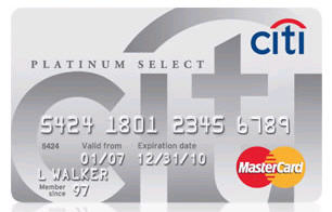 The Citigroup Platinum Select Mastercard