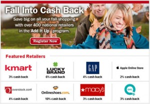 Bank of America Fall Cashback ADD It UP